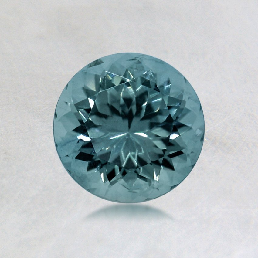 6mm Malawi Light Teal Round Sapphire, top view