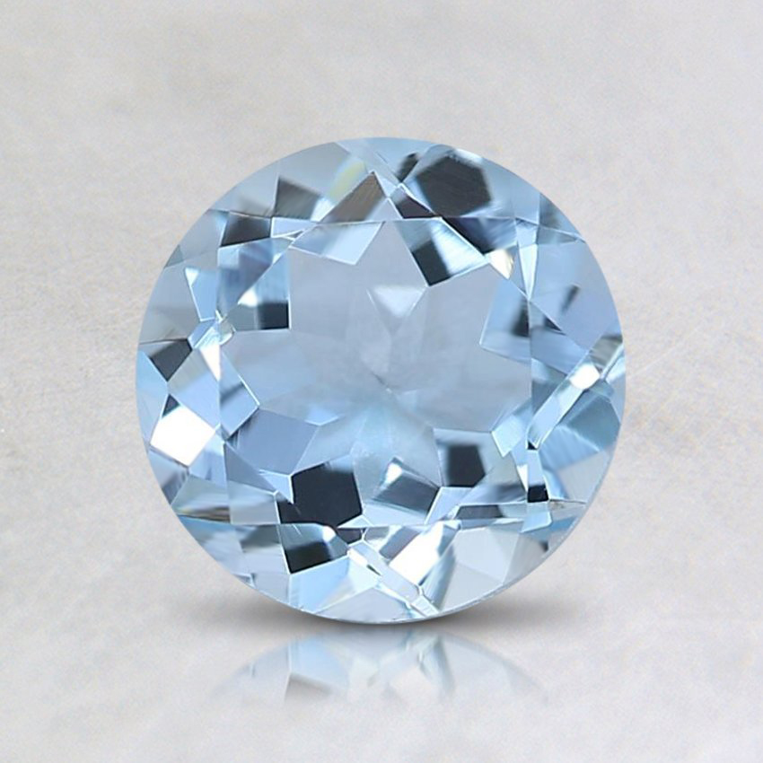 6.5mm Fine Round Aquamarine
