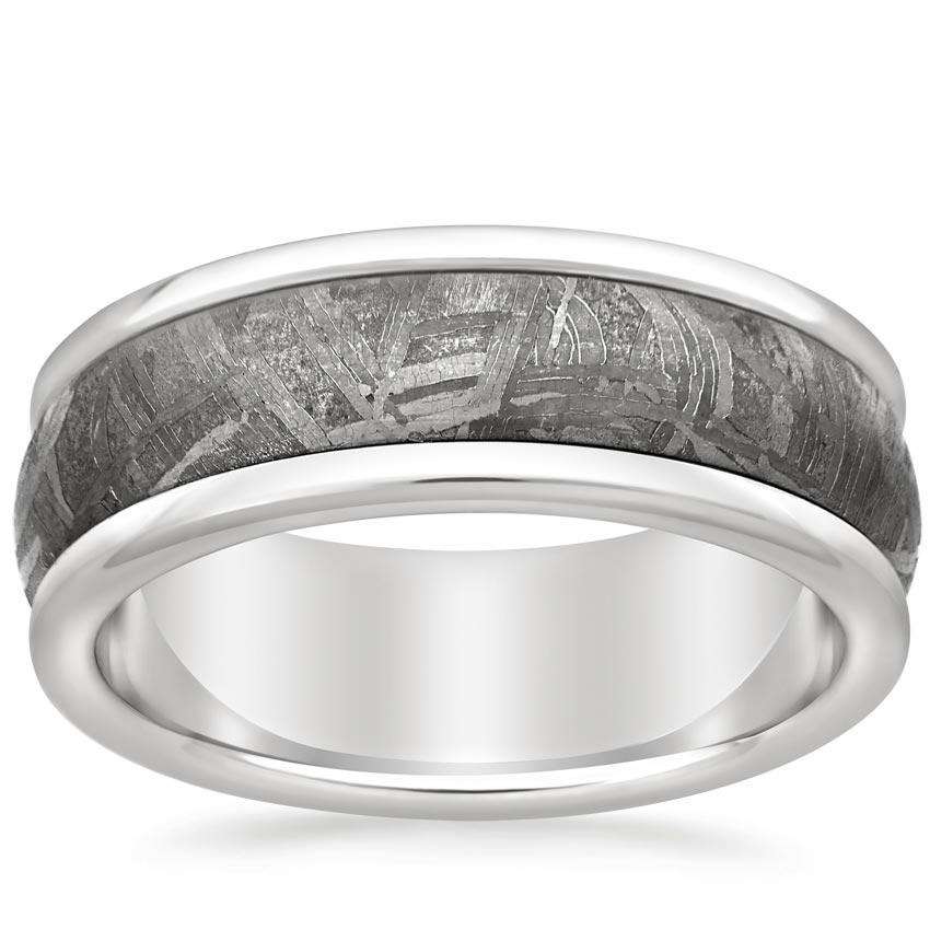 Men's Meteorite and Tungsten Wedding Ring
