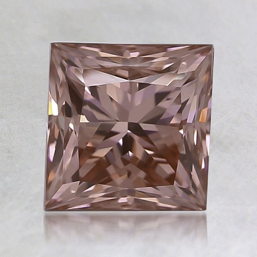 1.50 Ct. Fancy Vivid Pink Princess Lab Created Diamond