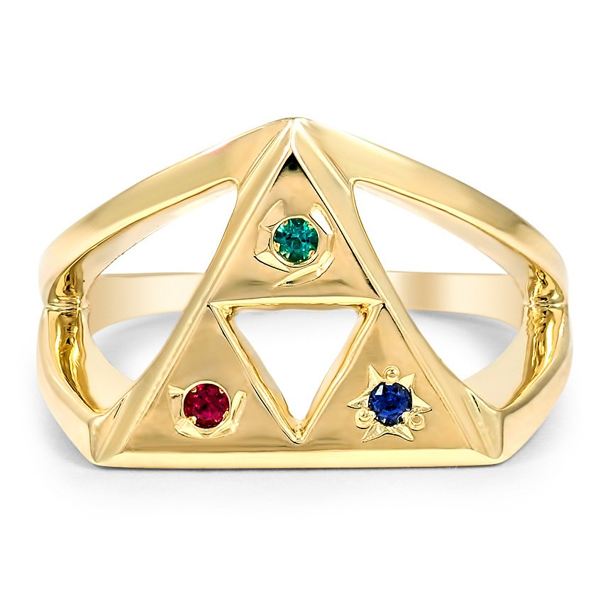 Custom Triangle Gemstone Ring