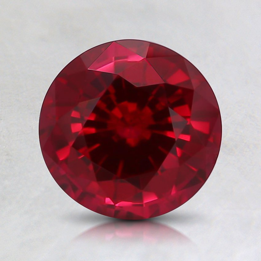 7mm Round Lab Created Ruby