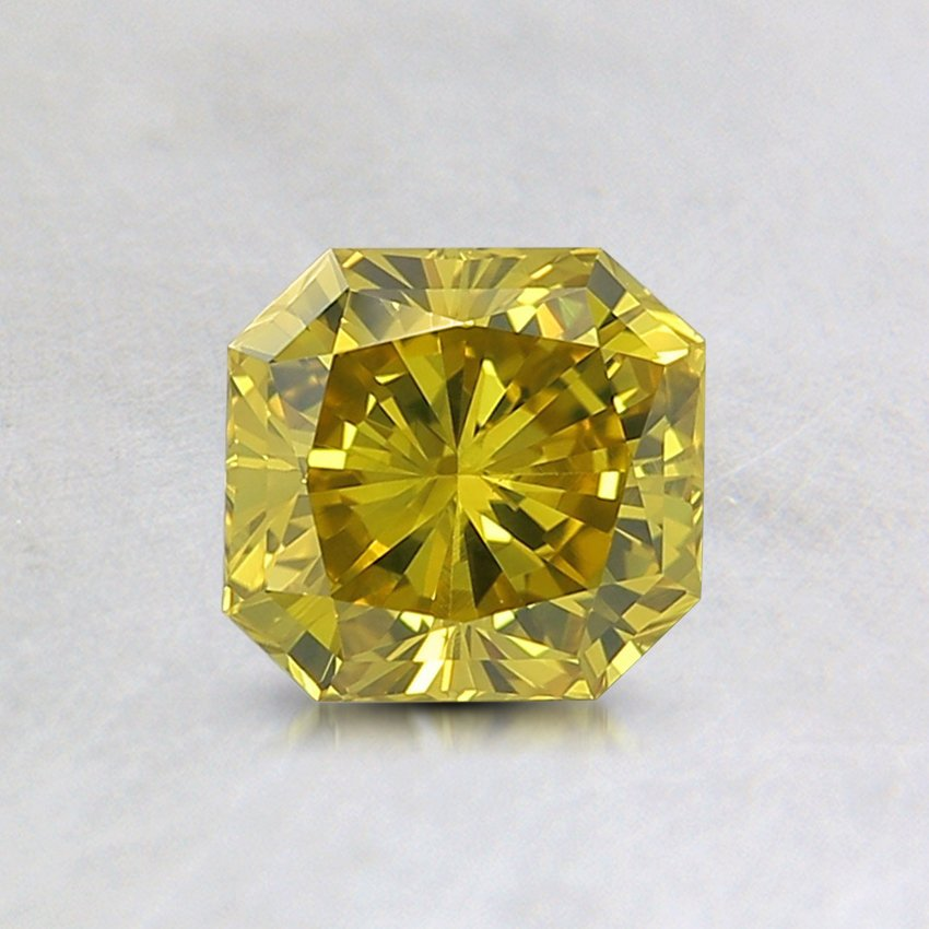 0.71 Ct. Lab Created Fancy Intense Greenish Yellow Radiant Diamond