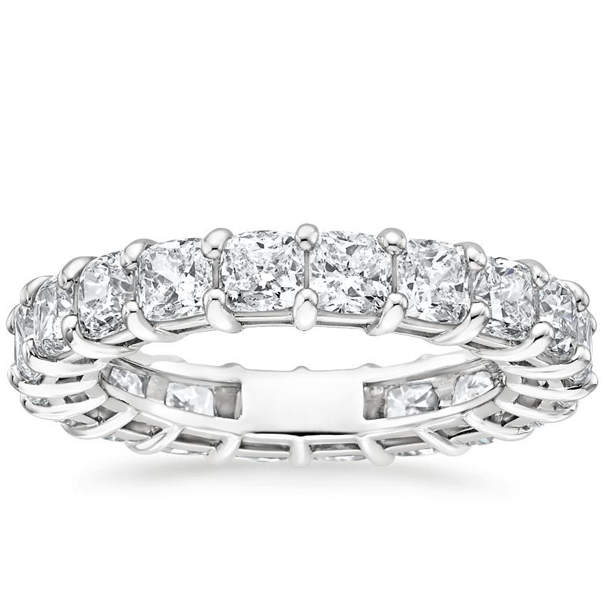 Cushion Eternity Diamond Ring (4 ct. tw.) in 18K White Gold