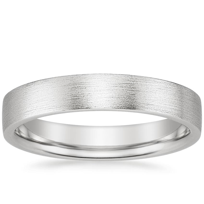 Men's 4mm Flat Matte Comfort Fit Wedding Ring
