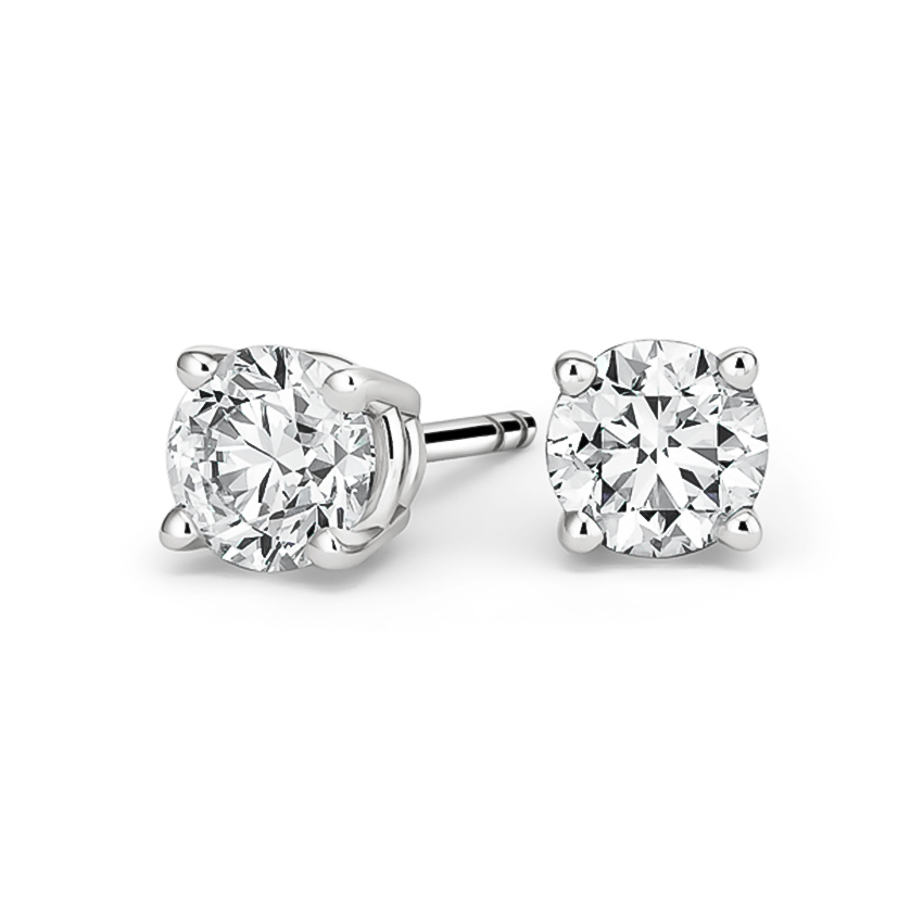 Round Diamond Stud Earrings (3 ct. tw.) in 18K White Gold