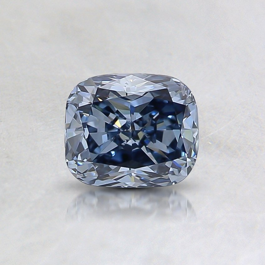 0.55 Ct. Fancy Vivid Blue Cushion Lab Created Diamond