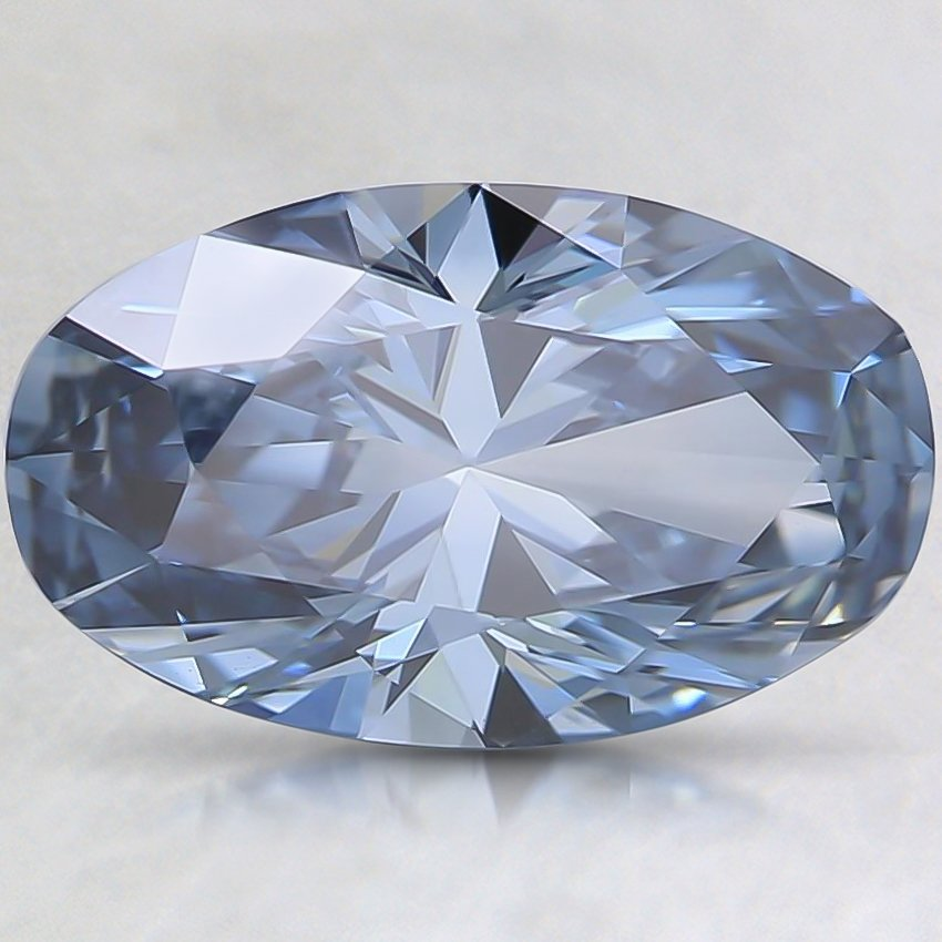 2.00 Ct. Fancy Blue Oval Lab Created Diamond