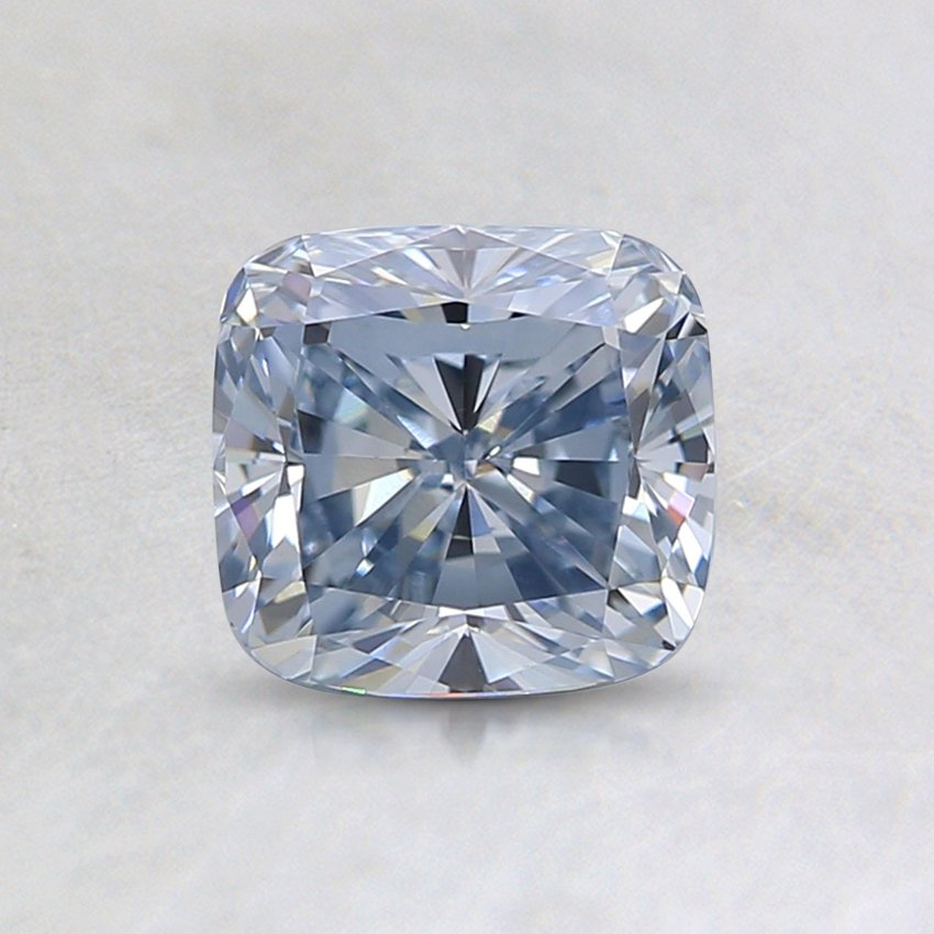 1.01 Ct. Lab Created Light Blue Cushion Diamond