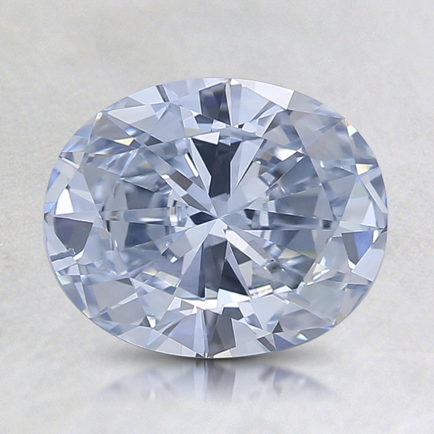 1.26 Ct. Lab Created Fancy Light Blue Oval Diamond, top view