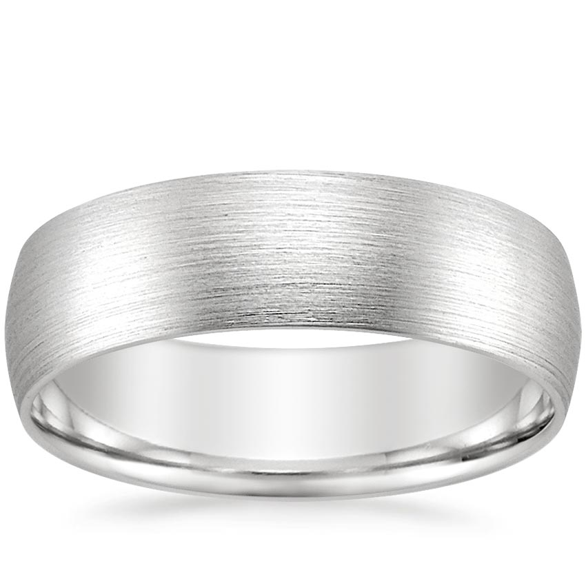 Top Twenty Men's Wedding Rings  - 6MM MATTE COMFORT FIT WEDDING RING