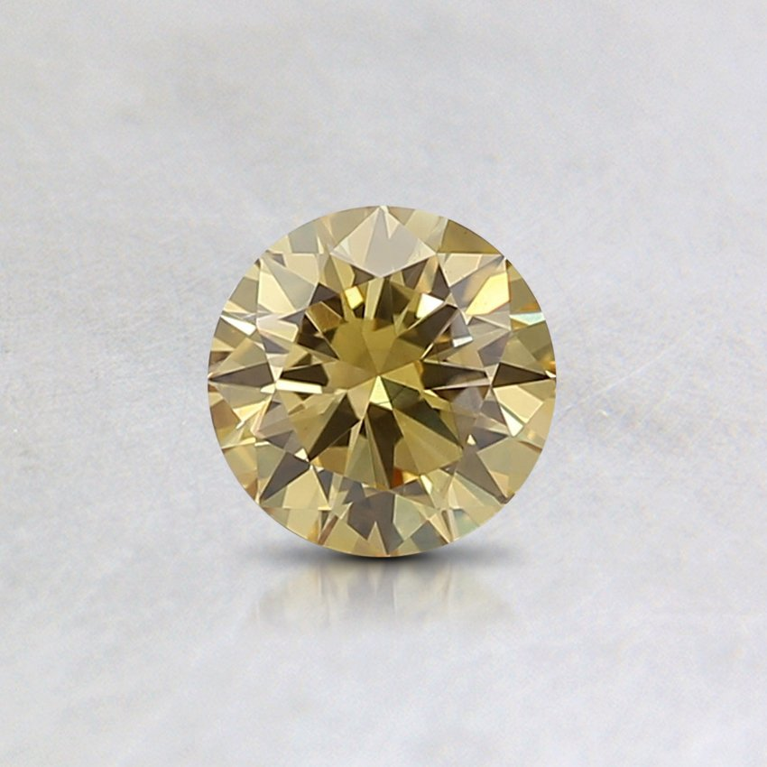 0.3 Ct. Lab Created Fancy Yellow Round Diamond, top view