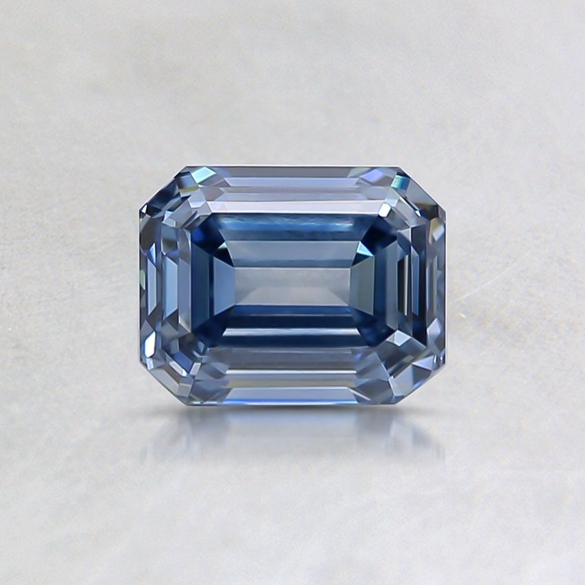 0.78 Ct. Fancy Blue Emerald Lab Created Diamond