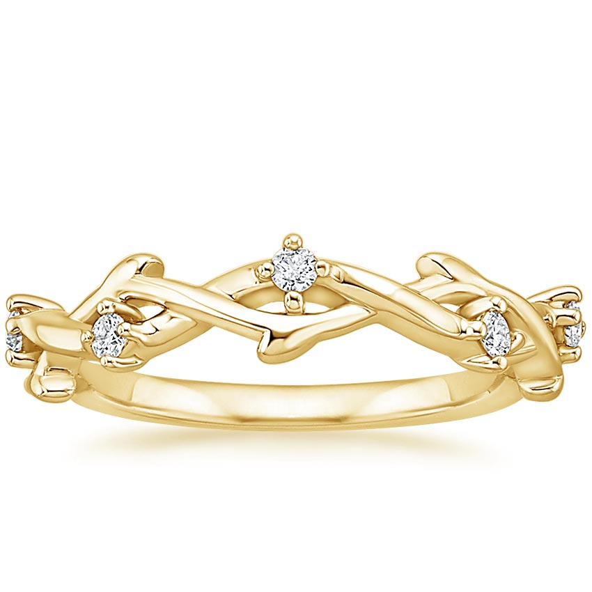 Yellow Gold Liana Diamond Ring