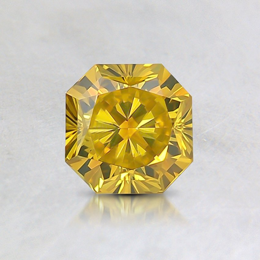 0.46 Ct. Fancy Intense Yellow Radiant Lab Created Diamond