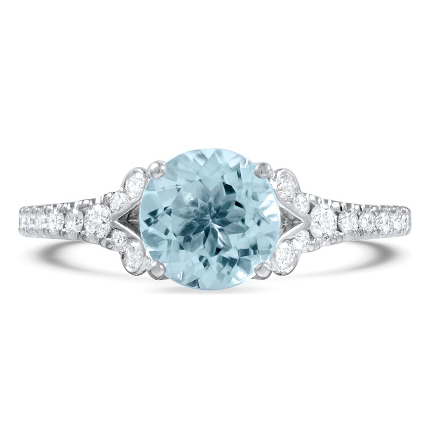 Modern Reproduction Aquamarine Vintage Ring