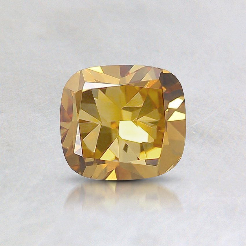 0.70 Ct. Fancy Deep Orange-Yellow Cushion Diamond