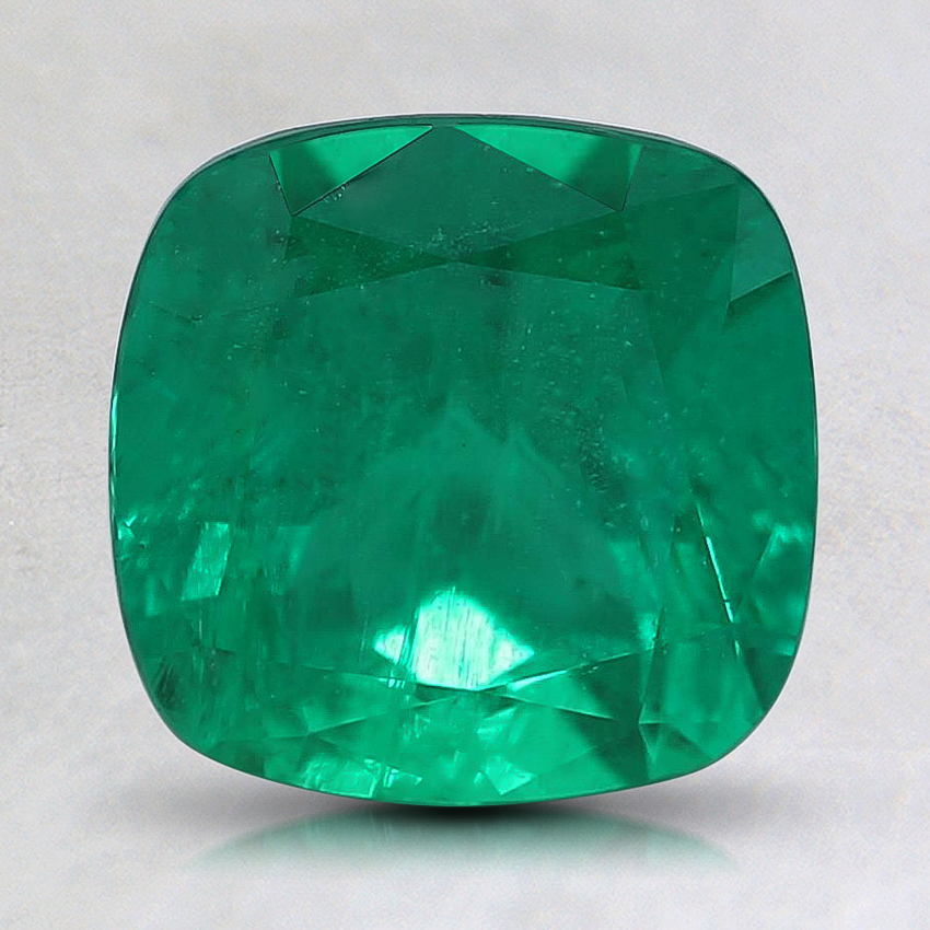 7.8mm Premium Cushion Emerald
