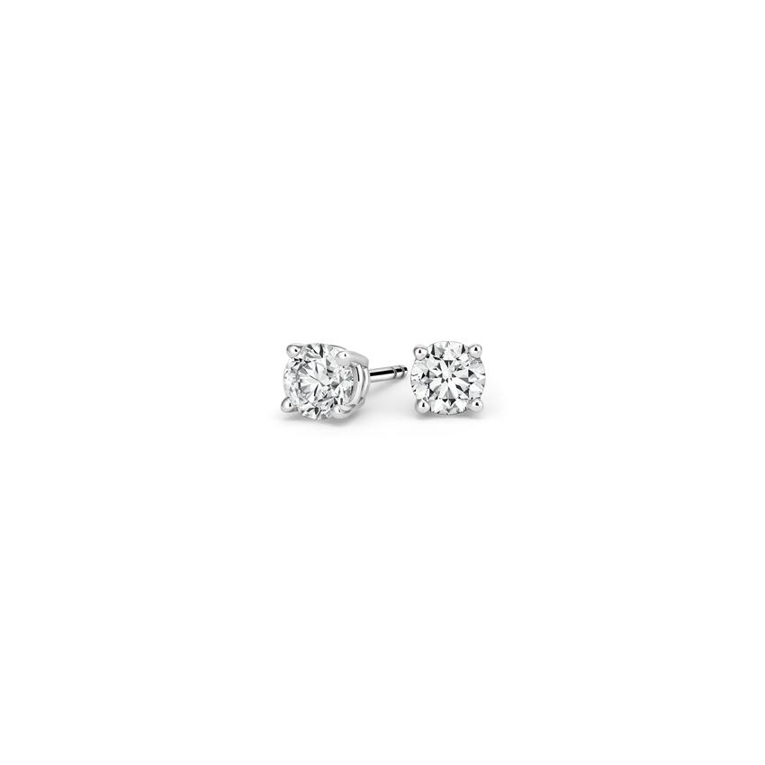 b37fa1487 Round Diamond Stud Earrings (1/5 ct. tw.) in 18K White Gold