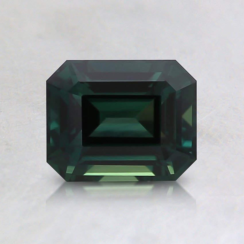 6.2x5mm Unheated Teal Emerald Sapphire