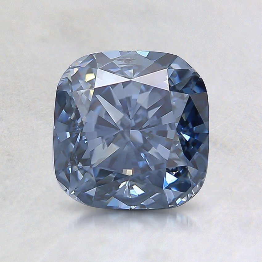 1.35 Ct. Fancy Intense Blue Cushion Lab Created Diamond