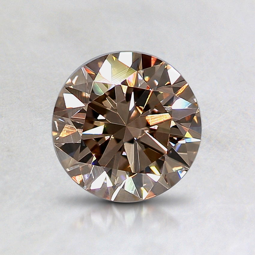 0.93 Ct. Natural Fancy Pinkish Brown Round Diamond