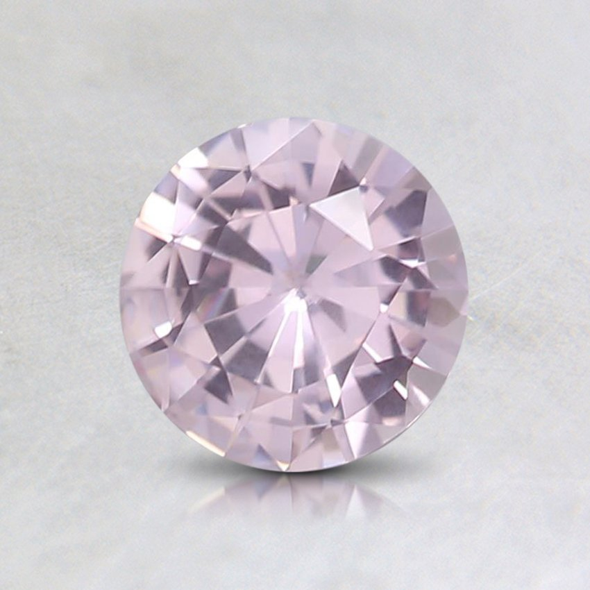 6mm Pink Round Sapphire, top view