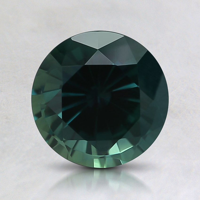 7.1mm Teal Round Sapphire