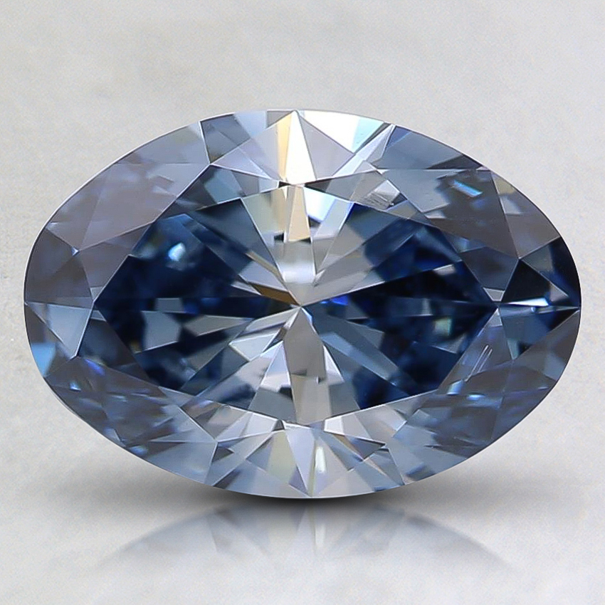 1.54 Ct. Fancy Blue Oval Lab Created Diamond
