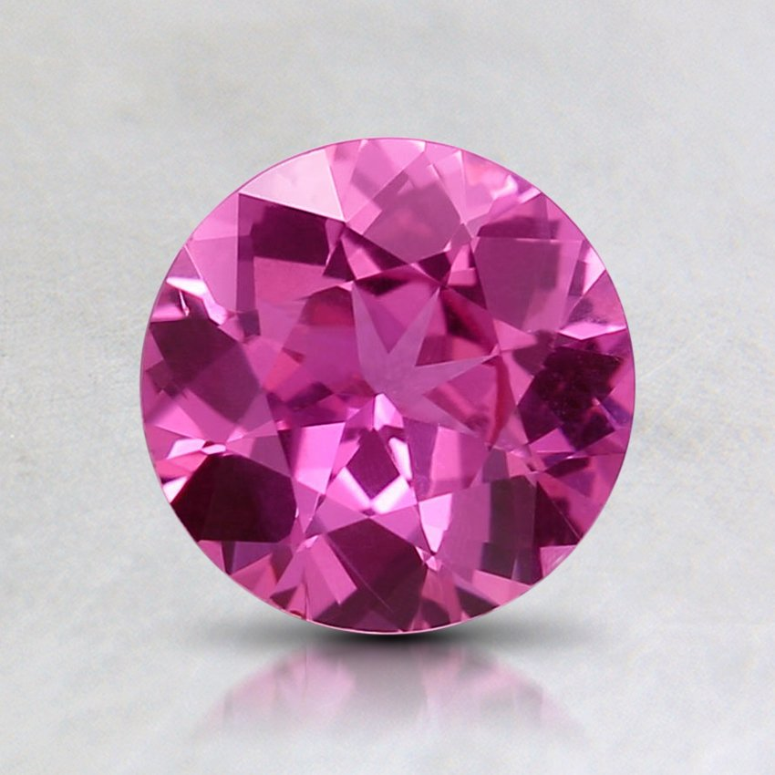 6.6mm Unheated Pink Round Sapphire