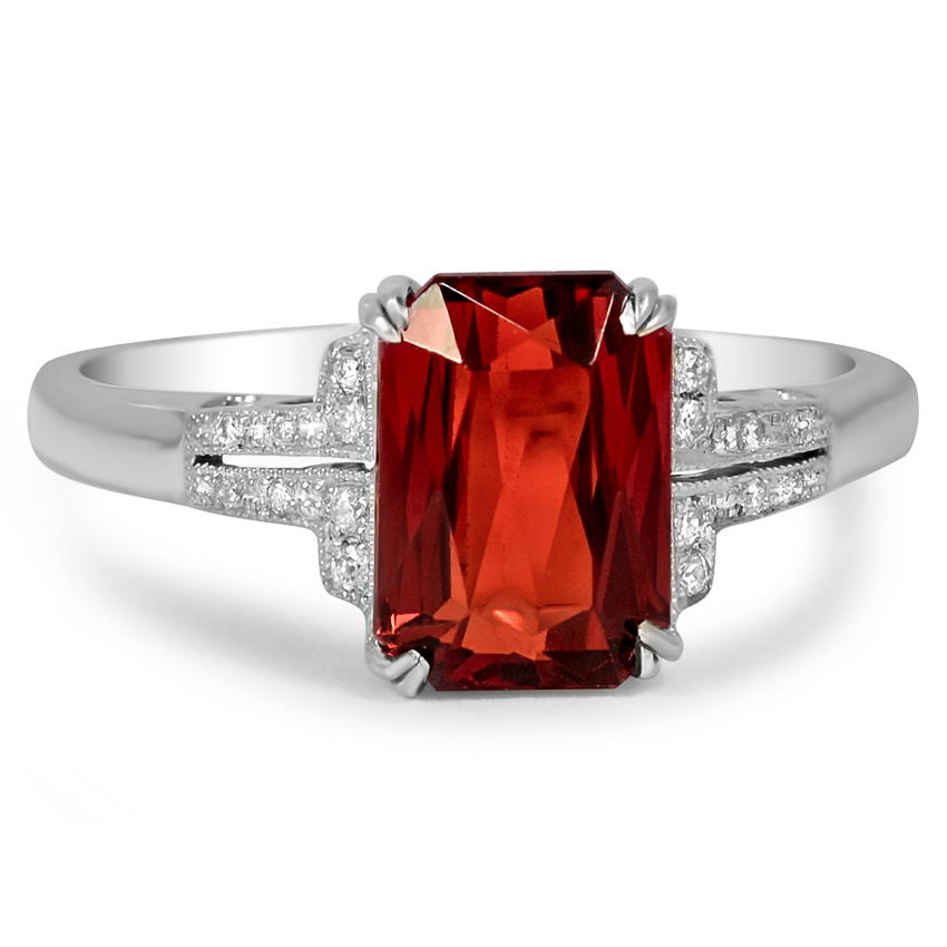 Art Deco Garnet Vintage Ring