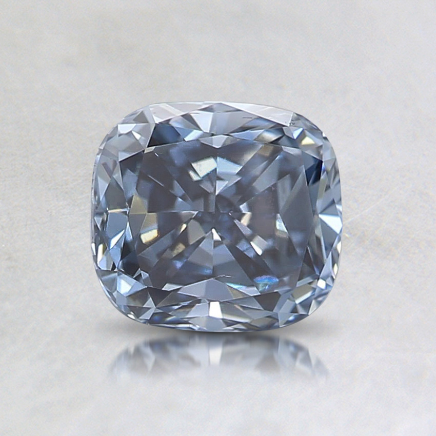 0.87 Ct. Fancy Vivid Blue Cushion Lab Created Diamond