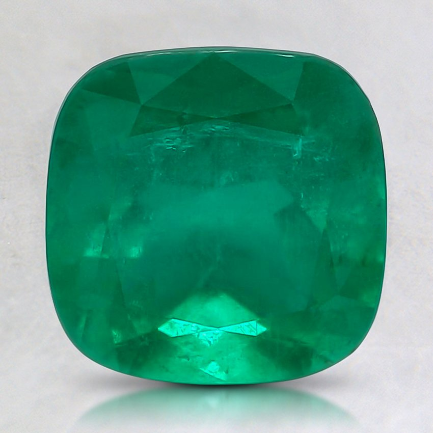 8mm Premium Cushion Emerald