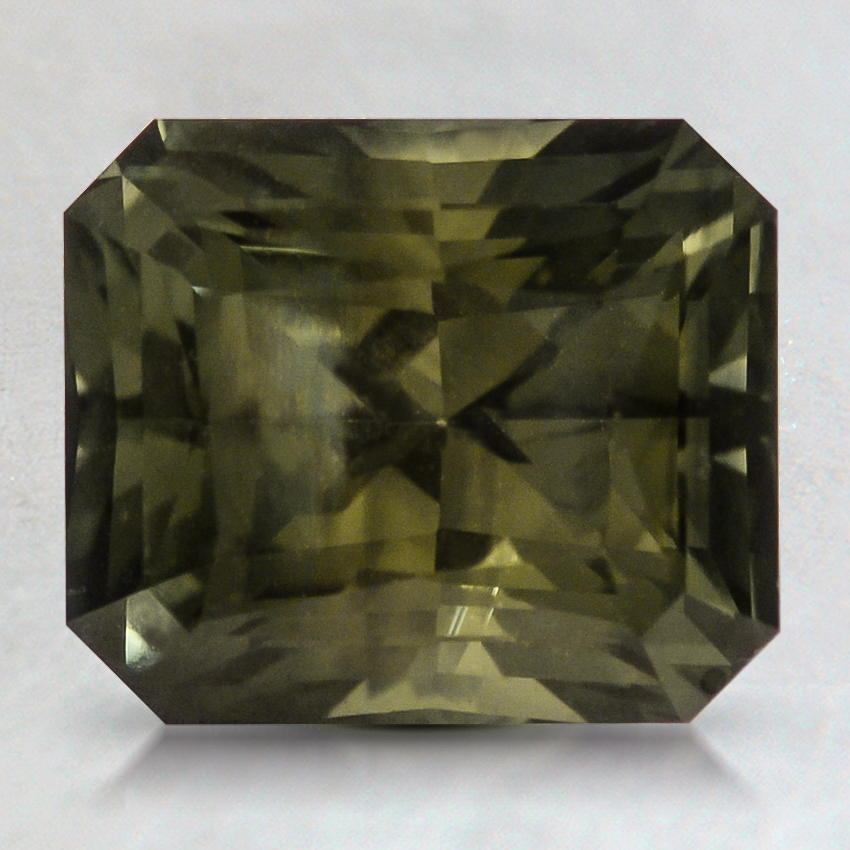 8.5x7mm Green Radiant Sapphire, top view