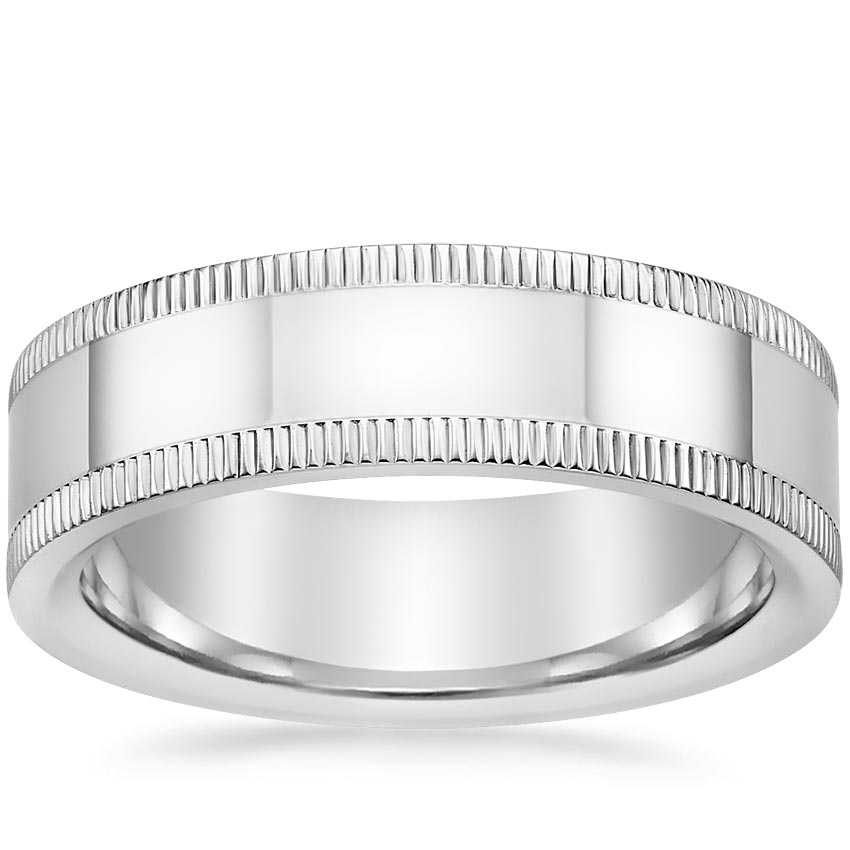 Coin Edge Wedding Ring