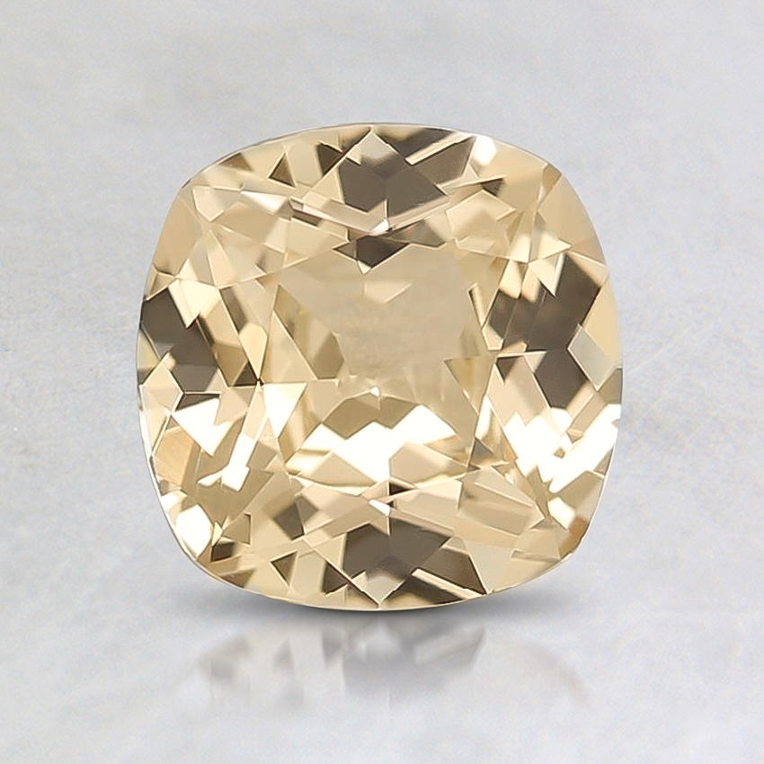 6.5mm Unheated Peach Cushion Sapphire