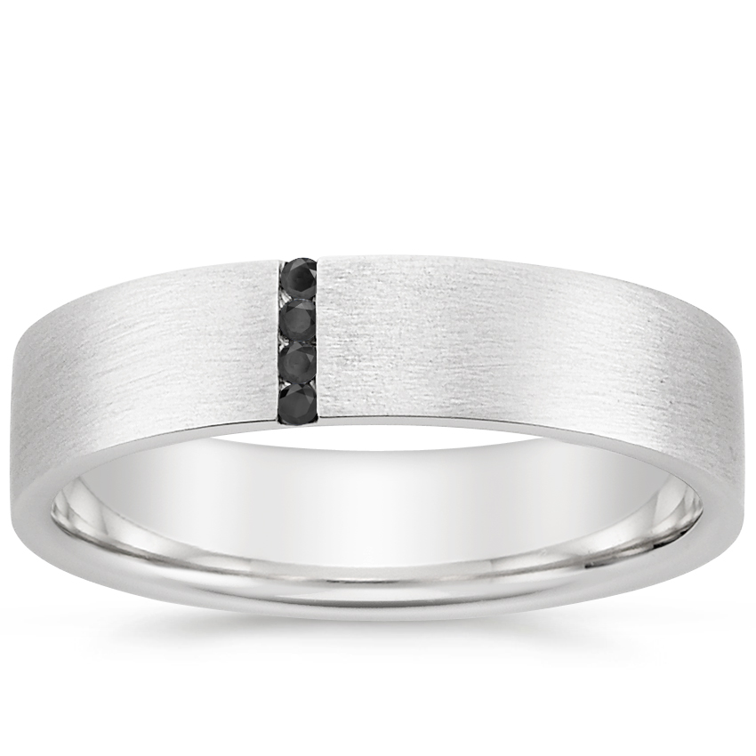 Top Twenty Men's Wedding Rings - HORIZON BLACK DIAMOND WEDDING RING