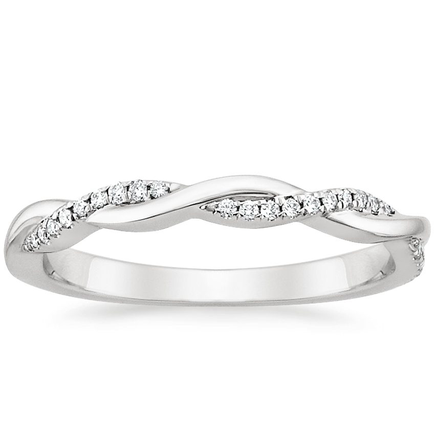 Petite Twisted Vine Diamond Ring (1/8 ct. tw.) in Platinum