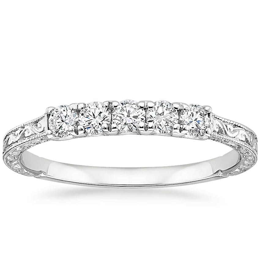 Hudson Five Stone Diamond Ring (1/4 ct. tw.) in Platinum