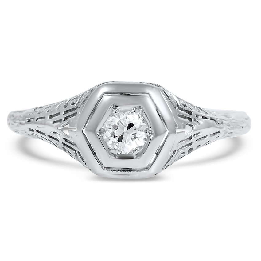 The Tamisha Ring, top view