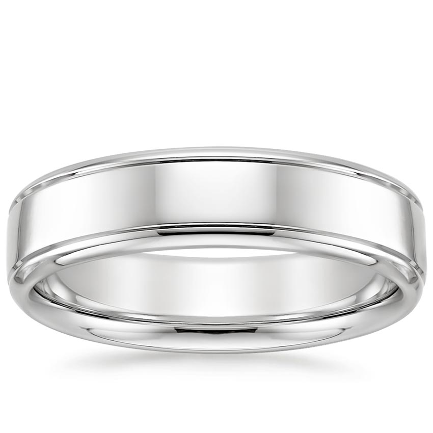 Tahoe Wedding Ring in 18K White Gold