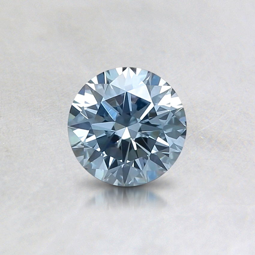 0.40 ct. Lab Created Fancy Light Blue Round Diamond, top view