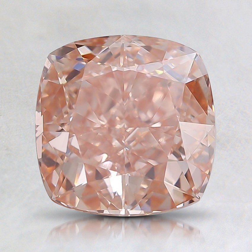 2.00 Ct. Fancy Intense Orangy Pink Cushion Lab Created Diamond