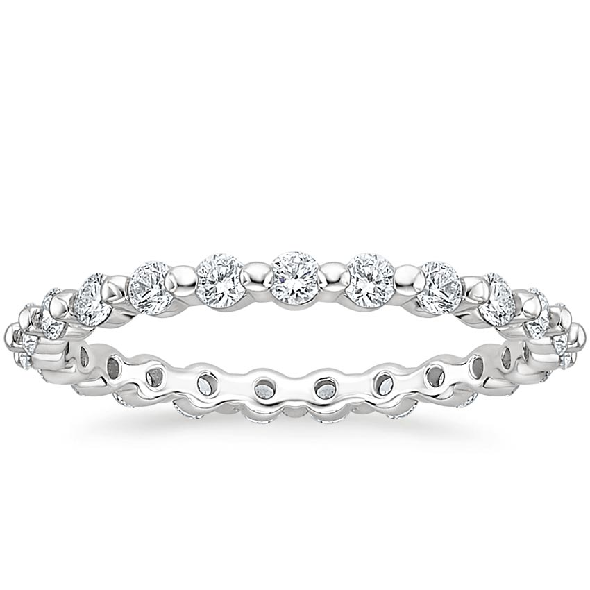 Single Shared Prong Eternity Ring