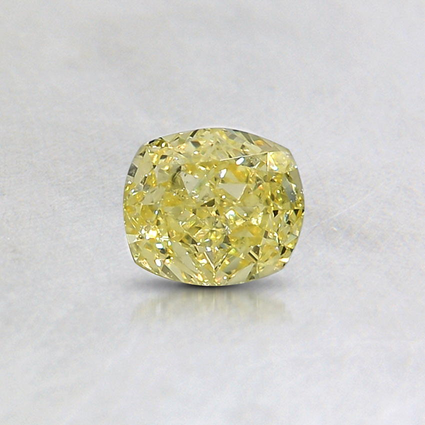 0.36 Ct. Natural Fancy Yellow Cushion Diamond