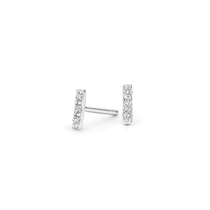 Pavé Bar Diamond Earrings
