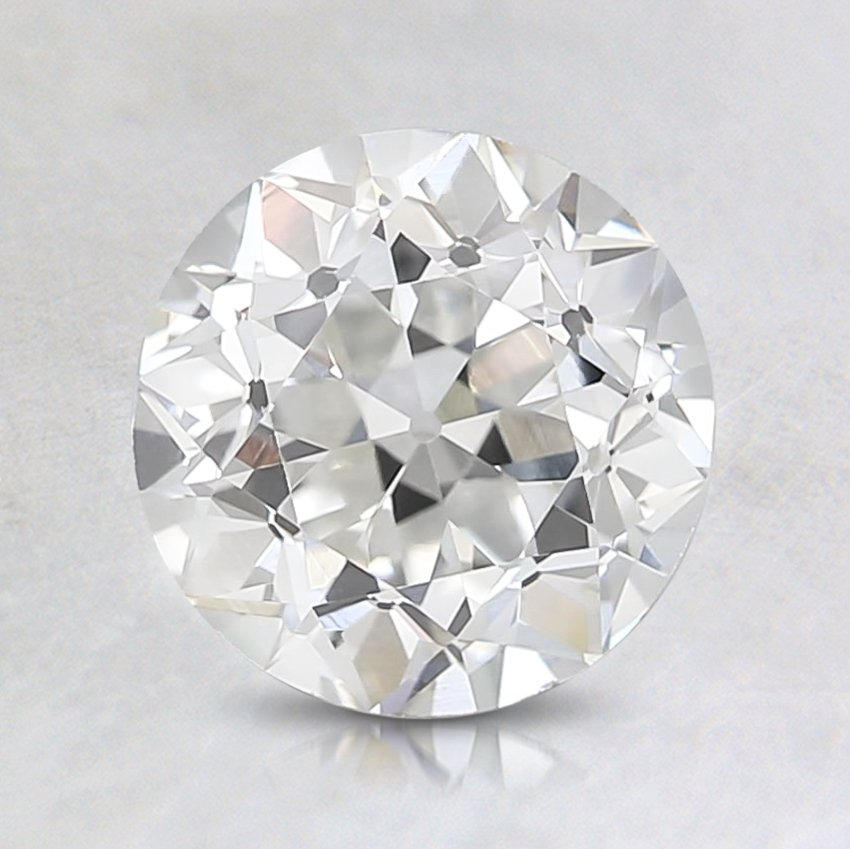 0.99 Carat, J Color, VS1 Clarity, Round Old European Cut Diamond