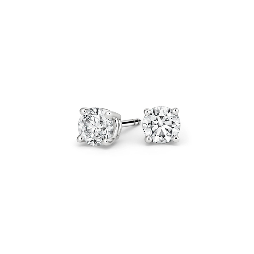 Certified Lab Created Diamond Stud Earrings (3/4 ct. tw.) in 18K White Gold