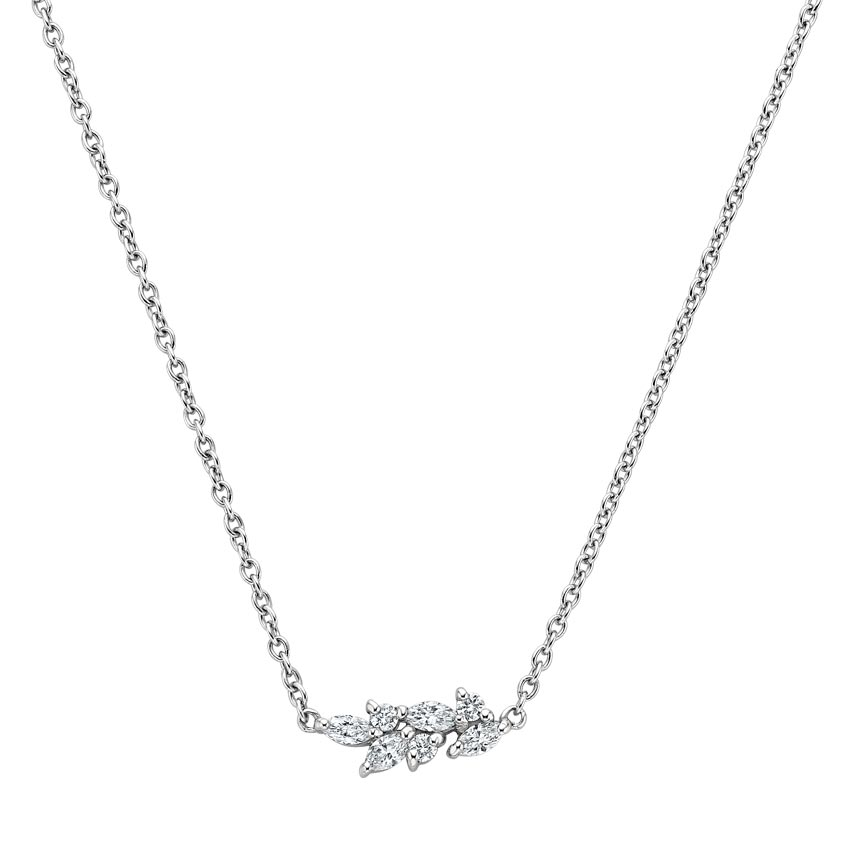Marquise Diamond Cluster Necklace