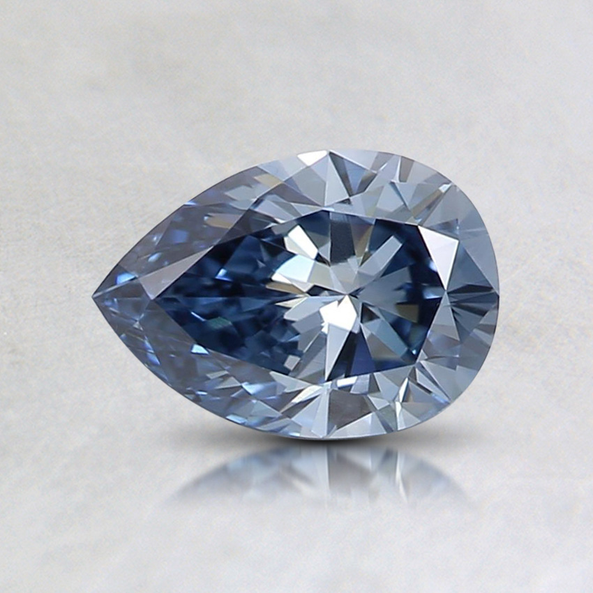 0.62 ct. Fancy Vivid Blue Pear Lab Created Diamond
